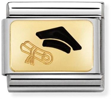 Nomination Graduation Cap Charm  - Click to view larger image