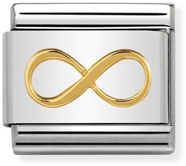Nomination Gold Infinity Charm  - Click to view larger image