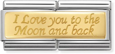 Nomination To the Moon and Back Double Charm  - Click to view larger image