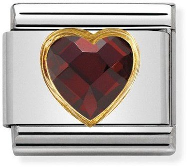 Nomination Red & Gold Heart Charm  - Click to view larger image