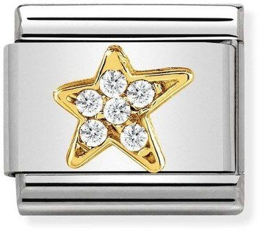 Nomination Gold Asymmetric Star Charm  - Click to view larger image