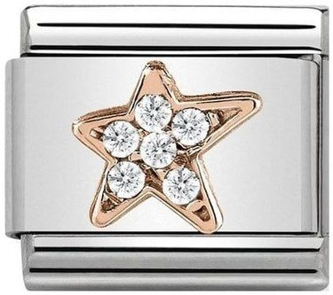 Nomination Rose Gold Asymmetric Star Charm  - Click to view larger image