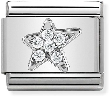 Nomination Silver Asymmetric Star  - Click to view larger image
