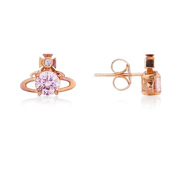 Vivienne Westwood Reina Pink Orb Earrings  - Click to view larger image