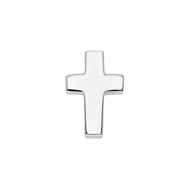 Storie Silver Cross Charm  - Click to view larger image