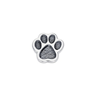 Storie Silver Paw Charm  - Click to view larger image