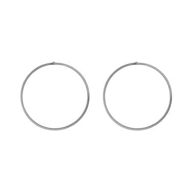 Pilgrim Alisa Silver Front Facing Hoop Earrings  - Click to view larger image