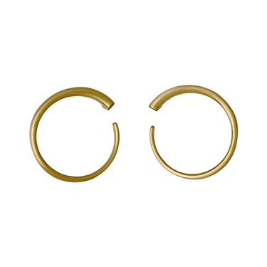 Pilgrim Gold Plated Front Facing Circle Earrings  - Click to view larger image