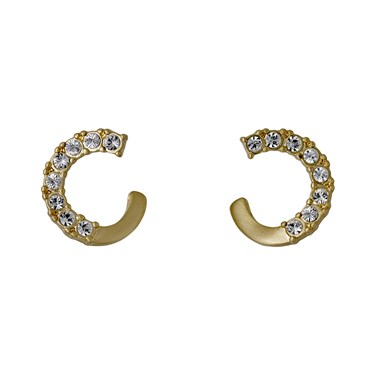 Pilgrim Gold Plated Crystal Earrings  - Click to view larger image