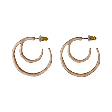 Pilgrim Saundra Rose Gold Plated Hoop Earrings  - Click to view larger image
