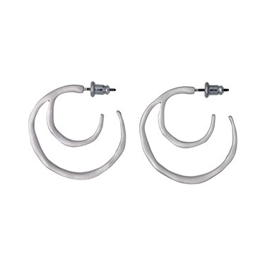 Pilgrim Saundra Silver Hoop Earrings  - Click to view larger image