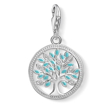 Thomas Sabo Turquoise Tree of Life Charm  - Click to view larger image