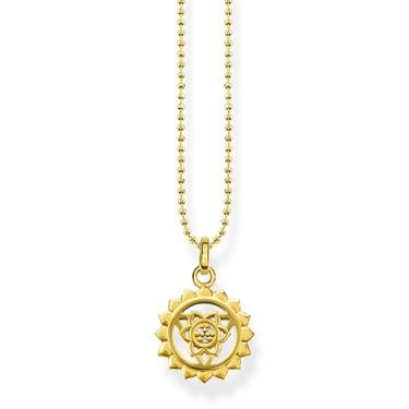 Thomas Sabo Gold Sunflower Chakra Necklace  - Click to view larger image