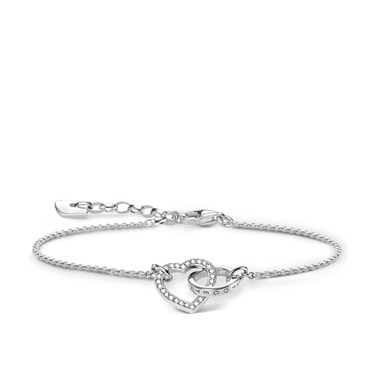 Thomas Sabo Silver Interlinking Hearts Bracelet   - Click to view larger image