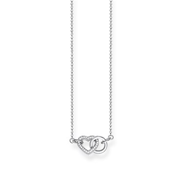 Thomas Sabo Interlinking Heart Necklace  - Click to view larger image