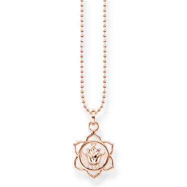 Thomas Sabo Rose Gold Splenic Chakra Necklace  - Click to view larger image