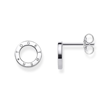 Thomas Sabo Together Circle Silver Stud Earrings  - Click to view larger image