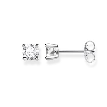 Thomas Sabo Silver Square Stud Earrings  - Click to view larger image