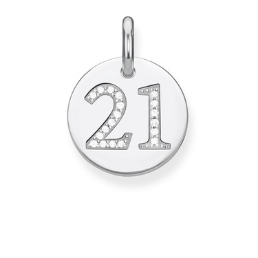 Thomas Sabo Silver 21 Pendant   - Click to view larger image
