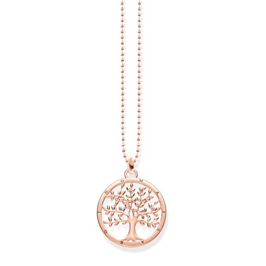 Thomas Sabo Tree of Life Rose Gold Necklace  - Click to view larger image