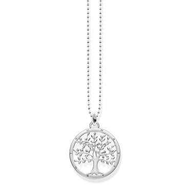Thomas Sabo Tree of Life Silver Necklace  - Click to view larger image