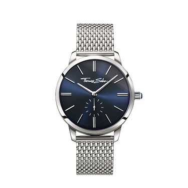 Thomas Sabo Navy Dial Silver Mesh Watch  - Click to view larger image