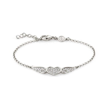 Nomination Angel Silver Winged Heart Bracelet  - Click to view larger image