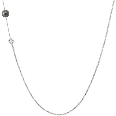 Nomination Bella Moonlight Long Grey Pearl Necklace  - Click to view larger image