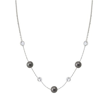 Nomination Bella Moonlight Grey Pearl and Crystal Necklace  - Click to view larger image