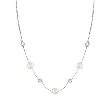 Nomination Bella Moonlight Pearl and Crystal Necklace  - Click to view larger image