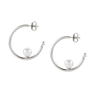 Nomination Bella Moonlight Pearl Hoop Earrings  - Click to view larger image
