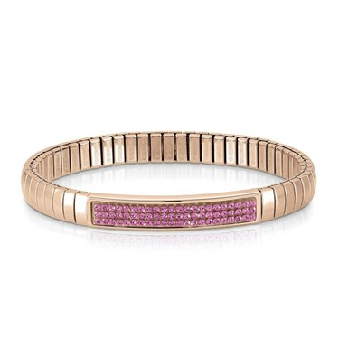 Nomination Swarovski Fuschia Pink & Rose Gold Bracelet  - Click to view larger image