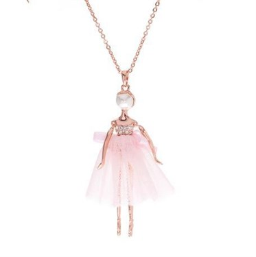 Ted baker bijou ballerina pendant necklace argento ted baker bijou ballerina pendant necklace click to view larger image mozeypictures Image collections