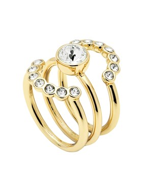 Ted Baker Gold Cadyna Concentric Crystal Rings  - Click to view larger image