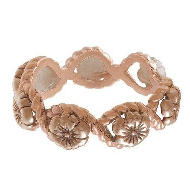Olivia Burton Rose Gold Floral Charm Ring  - Click to view larger image