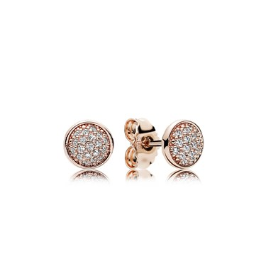 Pandora Dazzling Droplets Rose Stud Earrings  - Click to view larger image
