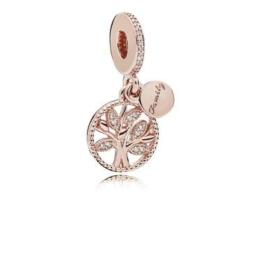 Pandora Rose Family Heritage Pendant Charm  - Click to view larger image
