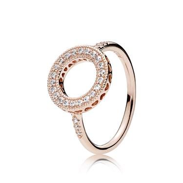 1e27bb473 Pandora Rose Hearts of PANDORA Halo Ring   Argento.com
