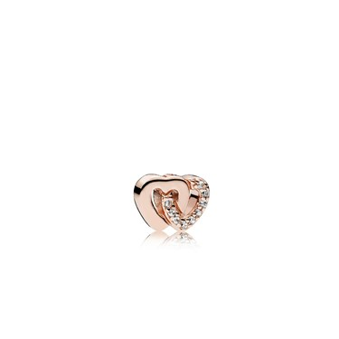 PANDORA Rose Interlocked Hearts Petite Locket Charm  - Click to view larger image