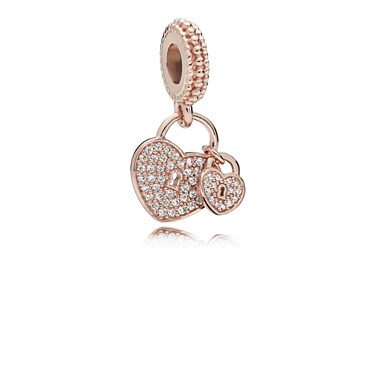 fcbd55d91390f Rose Love Locks Pendant Charm