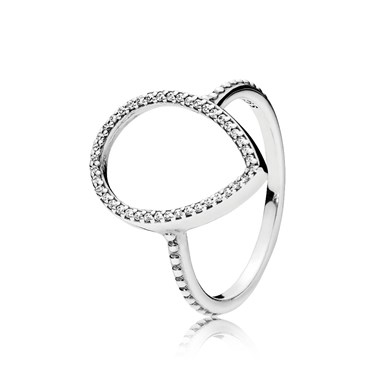 Pandora Teardrop Silhouette Ring  - Click to view larger image