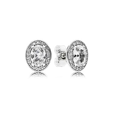 PANDORA Vintage Elegance Stud Earrings  - Click to view larger image