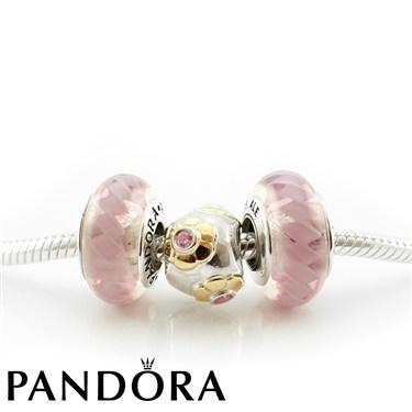 Pandora Golden Pink Necklace