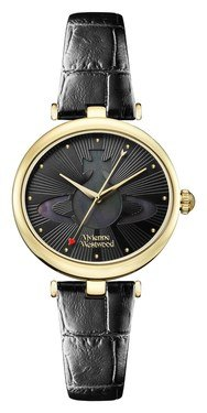 Vivienne Westwood Belgravia Black & Gold Watch  - Click to view larger image