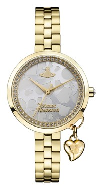 Vivienne Westwood Bow II Gold Heart Dial Watch  - Click to view larger image