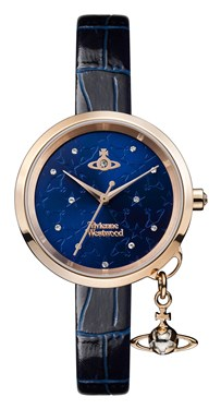 Vivienne Westwood Bow II Midnight Blue Dial Watch  - Click to view larger image