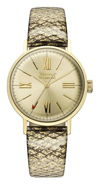 Vivienne Westwood Burlington Gold Snakeskin Watch  - Click to view larger image