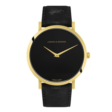 Larsson & Jennings  Lugano Jette 40mm Black & Gold Watch  - Click to view larger image