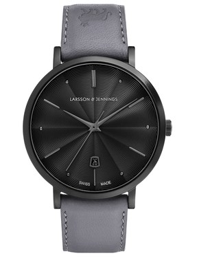 Larsson & Jennings  LUGANO 38MM GUILLOCHE DIAL BLACK  - Click to view larger image