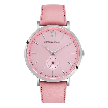 Larsson & Jennings  Lugano Jura 38mm Pink & Silver Watch  - Click to view larger image